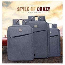 DTBG D8172 Travel Backpack Laptop Bag With USB Port - Grey