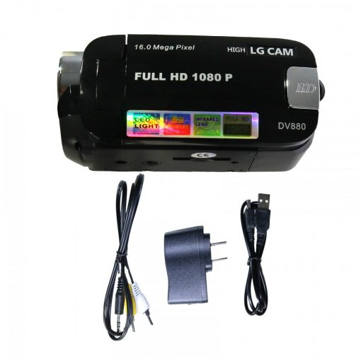 1080P 16x Zoom LCD DV DVR Digital Video Recorder Camera Camcorder  - Black