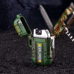 Dual Arc Rechargeable Electric Cigarette USB Lighter - Camouflage