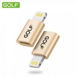 Golf Micro Usb to Lightning Adapter - Gold