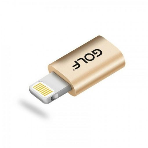 Golf Micro Usb to Lightning Adapter - Gold