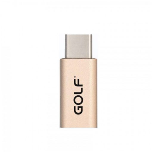 Golf Micro Usb to Type-C Adapter - Gold
