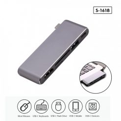 5 in 1 Type-C 4K HD Card Reader - Gray