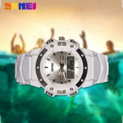 30m Waterproof Digital Wrist Watch - White