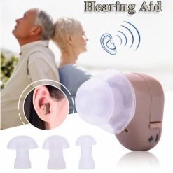JECPP In-Ear Sound Amplifier Adjustable Tone Hearing Aid - Brown