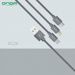 Onda XC24 3 in 1 Data Sync And Charging Cable - Grey