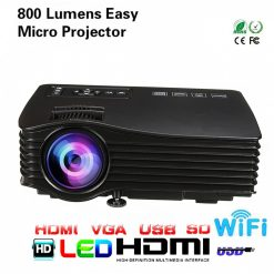 LED Simplified Entertainment Micro Wifi Ready Projector UC36+ - Black