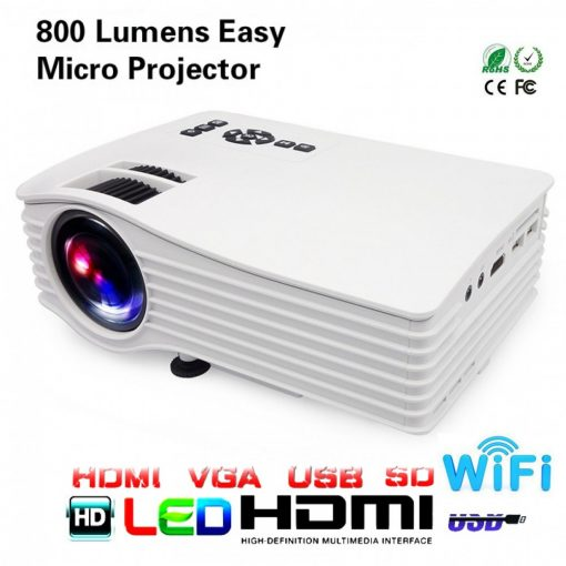 LED Simplified Entertainment Micro Wifi Ready Projector UC36+ - White