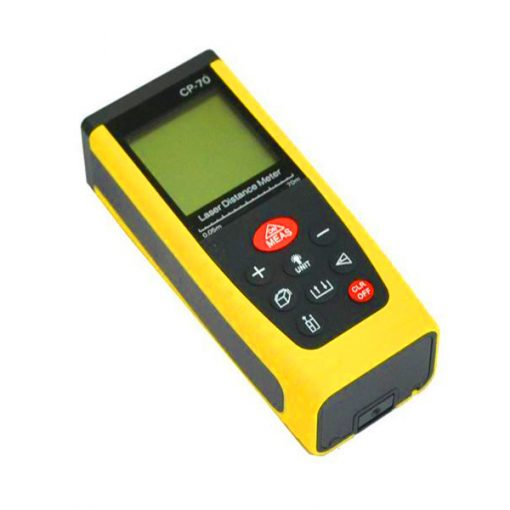 Portable Handheld 70M Laser Distance Meter - Yellow/Black