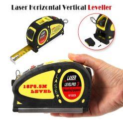 18 Feet 5.5 Meter Measuring Tape Laser Level Pro3 Measuring Equipment - Yellow
