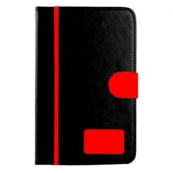 Leather Case for Lenovo A3300 Tablet - Black/Red