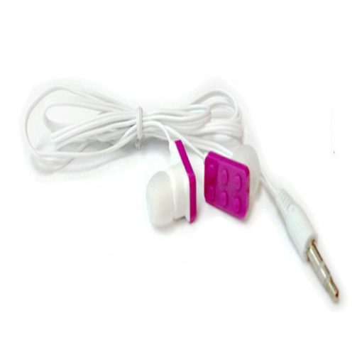 Block Type Earbuds Sundries Play Brick Headphones - Purple