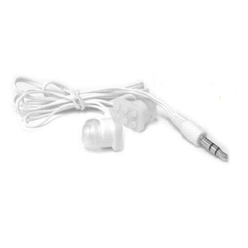 Block Type Earbuds Sundries Play Brick Headphones - White