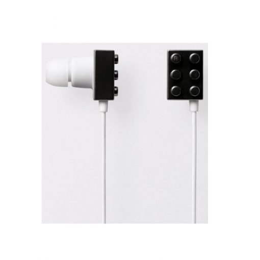 Block Type Earbuds Sundries Play Brick Headphones- Black