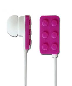 Block Type Earbuds Sundries Play Brick Headphones- Purple