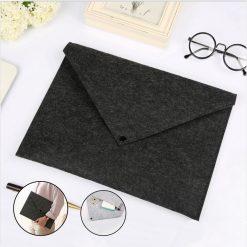 A4 Felt File Folder Bag Envelope - Black
