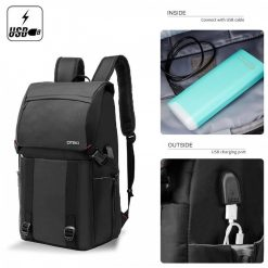 DTBG  8226 Waterproof Backpack With USB Charging Port - Black