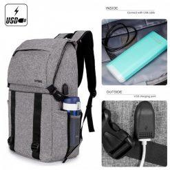 DTBG  8226 Waterproof Backpack With USB Charging Port - Grey