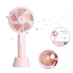 1200ma Rechargeable Hand Fan with Aroma Diffuser - Pink
