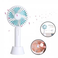 1200ma Rechargeable Hand Fan with Aroma Diffuser - White