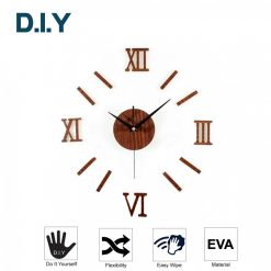 Figures DIY Wall Sticker Clock - Brown