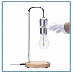 Magnetic Levitation Floating Bulb Desk Lamp Night Light - Silver