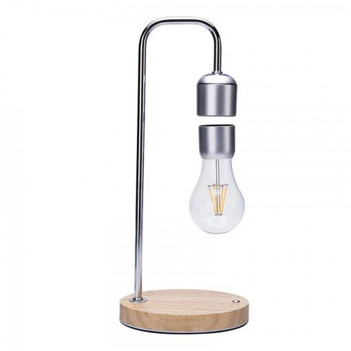 Magnetic Levitation Floating Bulb Desk Lamp Night Light - Silver