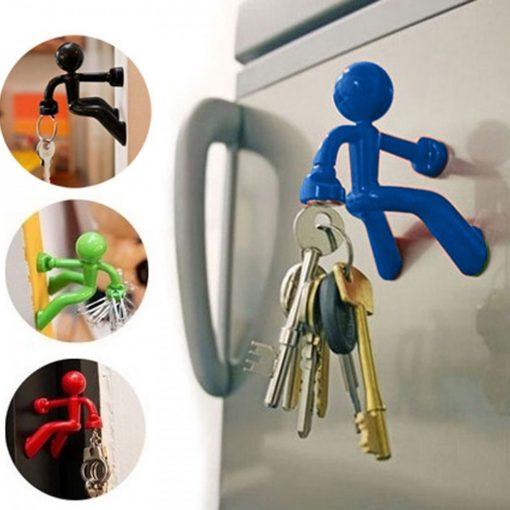 Magnetic Man Fridge Magnets Refrigerator Key Holder - Blue