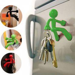Magnetic Man Fridge Magnets Refrigerator Key Holder - Green