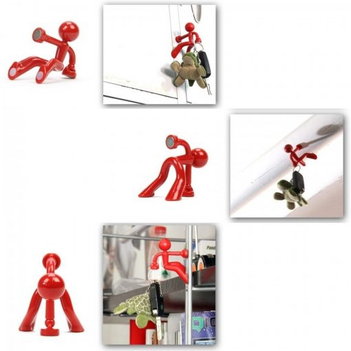 Magnetic Man Fridge Magnets Refrigerator Key Holder - Black