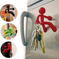 Magnetic Man Fridge Magnets Refrigerator Key Holder - Red