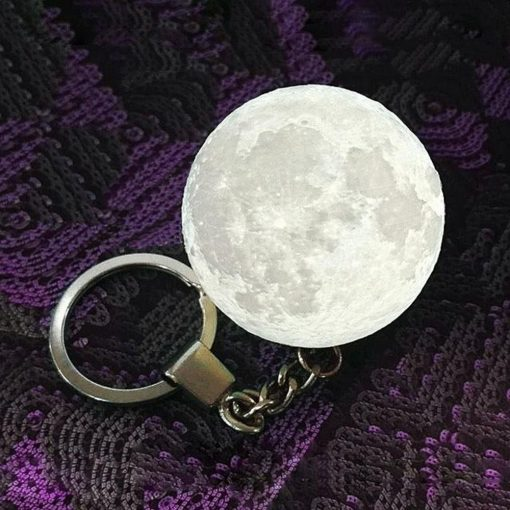 Mini Multicolor Led Moonlight Keychain - White