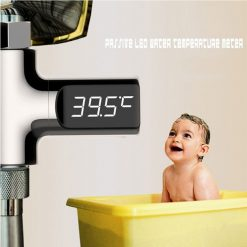 LED Water Temperature Display Meter - Silver