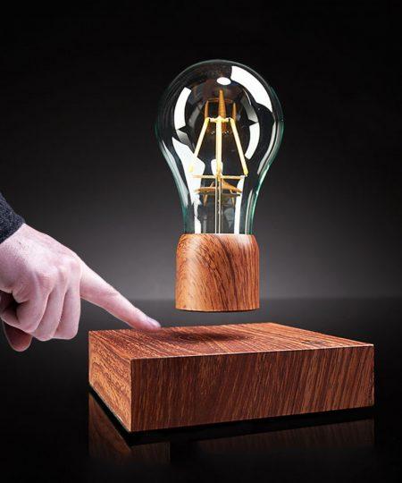 Magnetic Levitation Light Bulb - Brown