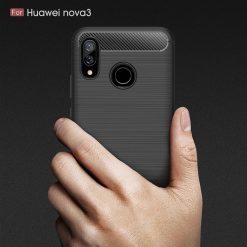 Huawei Nova 3i Fashion Fiber Case - Black