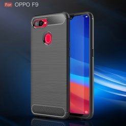 Oppo F9 Fashion Fiber Case - Grey