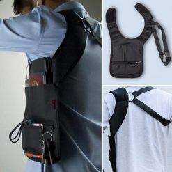 Anti Theft Hidden Storage Shoulder Armpit Bag - Black