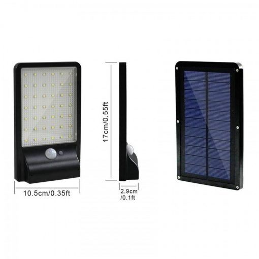 Outdoor Waterproof 500 Lumens Solar LED  Lamp With Motion Sensor - Black