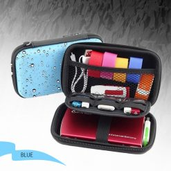 2.5 Inch Hard Drive Case Accessories Bag - Blue