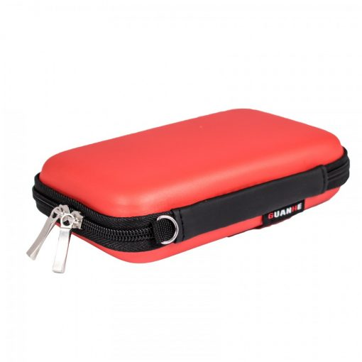 2.5 Inch Hard Drive Case Accessories Bag - Red