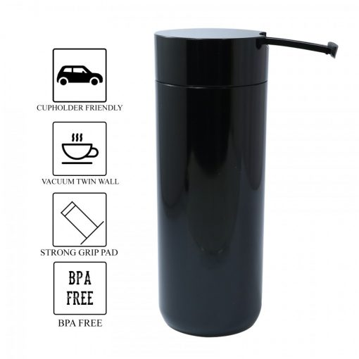 400 ml Thermal Suction Spill Free Tumbler - Black
