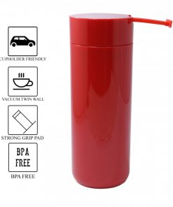 400 ml Thermal Suction Spill Free Tumbler - Red