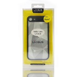 Likgus Ultra Slim Protective Case with Clear Polycarbonate Back for Iphone7 – Black