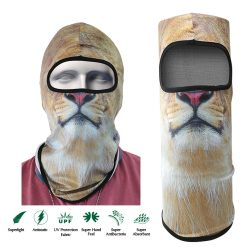 Lioness Face Design Full Face Mask - Yellow