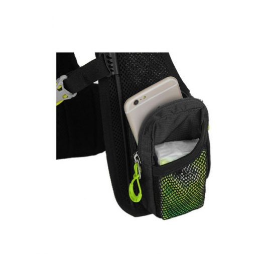 Local Lion Outdoor Backpack Vest Bag - Black/Green