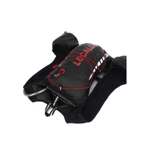 Local Lion Outdoor Backpack Vest Bag - Black/Red