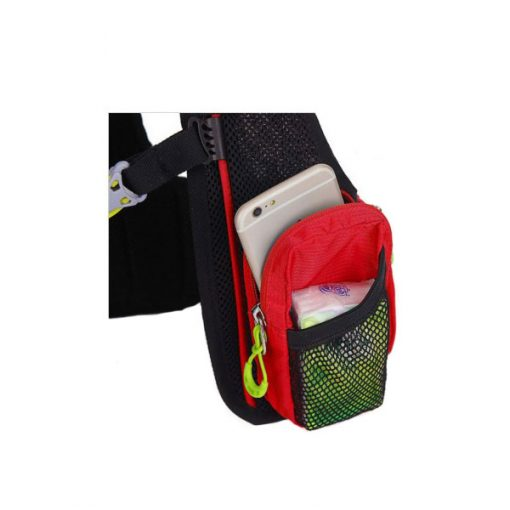 Local Lion Outdoor Backpack Vest Bag - Red/Green