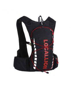 Local Lion Outdoor Backpack Vest Bag - Black/Red