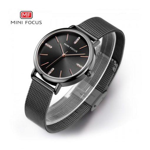 Mini Focus Quartz Women Watch - Black
