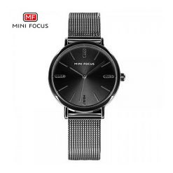 Mini Focus Quartz Women Watch - Black